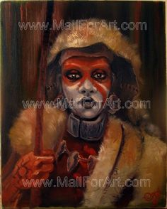 A different interpretation of realistic art - Angel Ivanov's paintings #ethno #gothic #african #realism #portrait #art #painting #man #oil