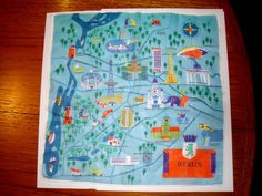 All sizes | Vintage Berlin Map on a Hanky! | Flickr Photo Sharing! #illustration