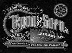 Tegan & Sara - The Sessions Podcast #line #white #black #art #logo