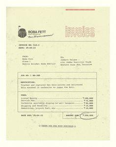 Boba\'s Invoice : brock davis