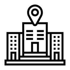 See more icon inspiration related to maps and location, business and finance, headquarters, map pointer, map point, map location, placeholder, company, pin, office, interface, signs and location on Flaticon.