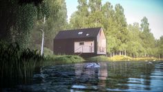 moxon architects envision wild cabins for remote living #cabin