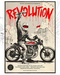 Revolution Show ILLUSTRATION, MOTORCYCLE, BIKE