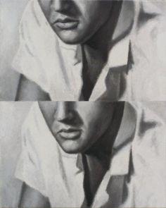 Dan Bina, Two Timing the King #twins #elvis #bina #dan #painting #art #twin #canvas #oil