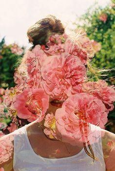 hollie fernando film #girl #still #floral #hollie #fernando #film #collage #flowers