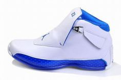 Air Jordan 18 Retro White/Blue Men\'s