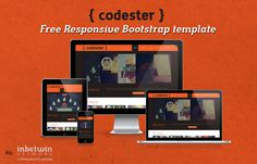 Codester : Free Responsive Bootstrap Portfolio Template