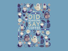 Illustration by Owen Davey #coffee #flat