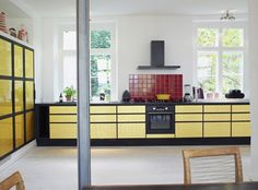Interior Inspiration: 12 Kitchens with Color Photo #interior #kitchen #design #decoration