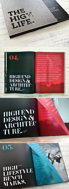 The High Life #brochure #translucent #vellum #overlays #realestate