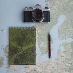 Sketchbook with a map justmaps.co #map #scetchbook #design #notebook #gift #idea