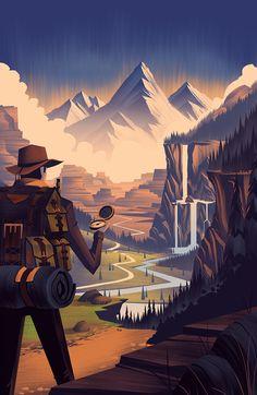 2014 LabelExpo Americas Brian Edward Miller #brian edward miller #illustration #adventure