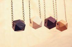 geometric wood necklaces #wood