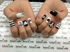 60 Examples of Black and White Nail Art #white #black #art #and #nail