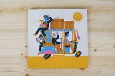 Bajaj - Jayde Fish  Wes Anderson inspired art show @SpokeArt SF