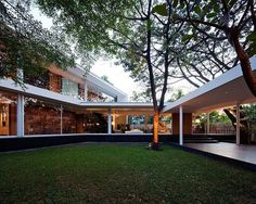 Contemporary Bangkok Residence Defined by Interconnected Glass Volumes #modern #contemporary #glass #architecture #residence