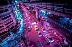Bangkok Glow: Neon Street Photography by Xavier Portela