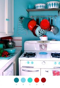 simply color: hannah berman | Design*Sponge #kitchen #decoration