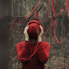alexstoddard13 | Fubiz™ #thread #red #woods #nature #trees