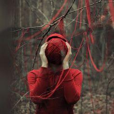 alexstoddard13 | Fubiz™ #thread #red #woods #nature #trees