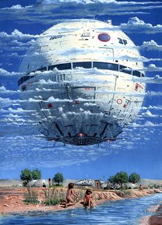 Peter Elson - M̲elt #clouds #tribe #sky #design #fi #sci #space #illustration #star #painting #surreal #death
