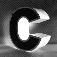 3D C #font #c #typography