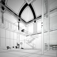 More 3D and an interview with Bertrand Benoit emmas designblogg #interior #visual #design #digital #visualization #art #3d #decoration