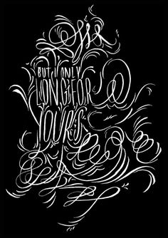 The Sweet Death of a Dream #illustration #flourishes #typography