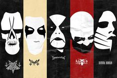 Black Metal Minimalist Posters (Keith Carlson)
