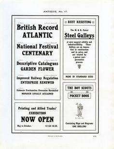 Antique No. 17 type specimen #type #specimen #typography