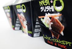 "Style of Asian food ""Nesisushi"" on Behance #packaging #asian"
