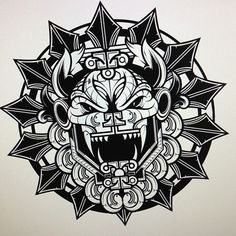 @Hydro74 - Quetzalcoatl revise… Screw around piece. #dragon #white #revision #quetzalcoatl #black #chinese #piece #and #hydro74 #bw