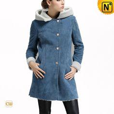 Suede Leather Shearling Womens Coat CW644358 #shearling #womens #coat