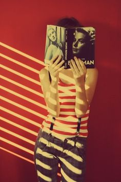 .K | Bergman (via Yulia ♥) #stripes #photography #retro