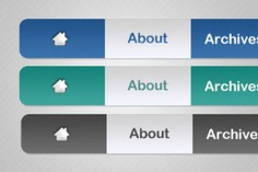 Three navigation menu psd material Free Psd. See more inspiration related to Menu, Web, Buttons, Psd, Web button, Material, Navigation, Three and Horizontal on Freepik.