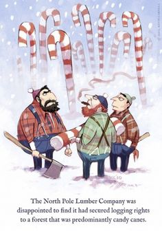 #christmas #illustration #lumberjack