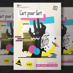 Modern artistic flyer template Free Psd. See more inspiration related to Pattern, Brochure, Flyer, Poster, Mockup, Business, Abstract, Party, Cover, Template, Geometric, Paper, Fashion, Brochure template, Retro, Leaflet, Hipster, Colorful, Flyer template, Shape, Stationery, Mock up, Poster template, Creative, Modern, Booklet, 80s, Set and Mock on Freepik.