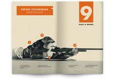 You Can Be an Expert Rifleman on Behance #rifle #shooting #orange #book #publication #vintage #layout #editorial