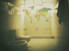 All sizes | Untitled | Flickr - Photo Sharing! #old #worldmap #retro #bathroom #photgraphy