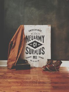 Typeverything.com — Hand painted wood signage by Neuarmy. (@neuarmy) #wood #type #boots #poster