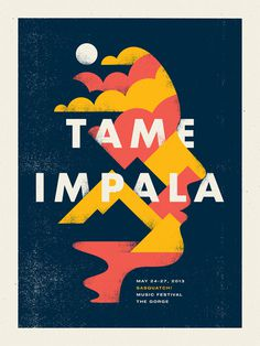 wooilikeit ^.^ Tame Impala by Doublenaut #gritty #geometric #illustration #grunge #face