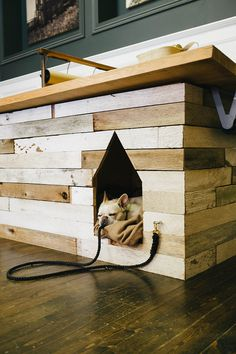 THE BROWN WORKSHOP #interior #design #wood #kennel #animal #dog