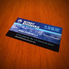 Detroit Business Card Design