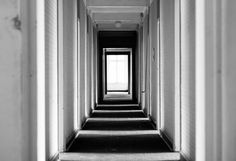 Zebra Corridor #photography #white #photo #light #urban #black #hotel #exploring #door #corridor #urbex
