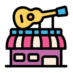 See more icon inspiration related to guitar, music shop, music and multimedia, commerce and shopping, architecture and city, music store, architecture, store, instrument, buildings, building, shop, musical and music on Flaticon.