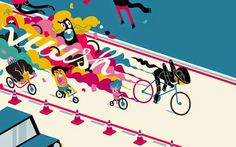 Bike lane etiquette | Coffee Bike | Imaginación Ciclística #speed #cycling #bicycle #bike #illustration