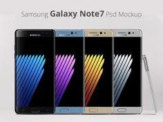 Free Samsung Galaxy Note 7 Mockup