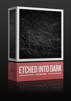 Maarten Kleyne created and hand picked this very versatile set of 15 scratched surface textures for Go Media #design #graphic #texture #box #etched #dark #typography