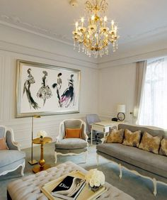The Dior Suite at the St. Regis Hotel #painting #interor