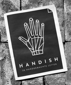 Handish by Tanja Angerbrandt #black and white #geometry #hand #linework